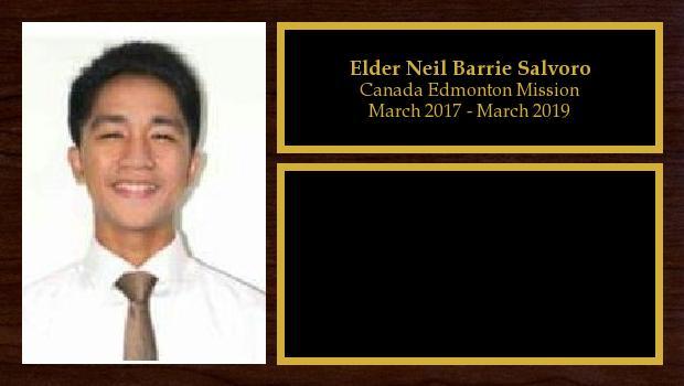 March 2017 to March 2019<br/>Elder Neil Barrie Salvoro