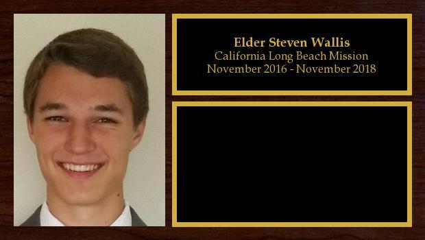 November 2016 to November 2018<br/>Elder Steven Wallis