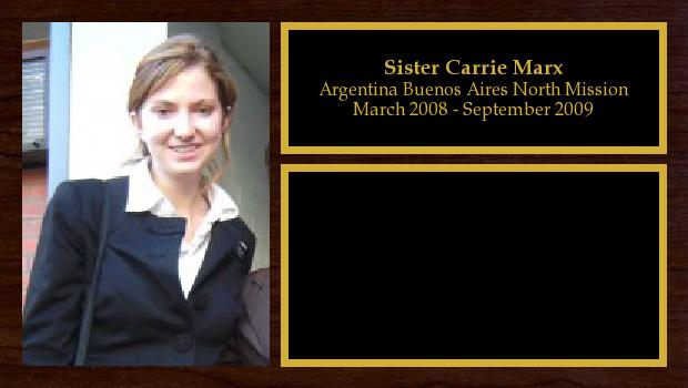 March 2008 to September 2009<br/>Sister Carrie Marx