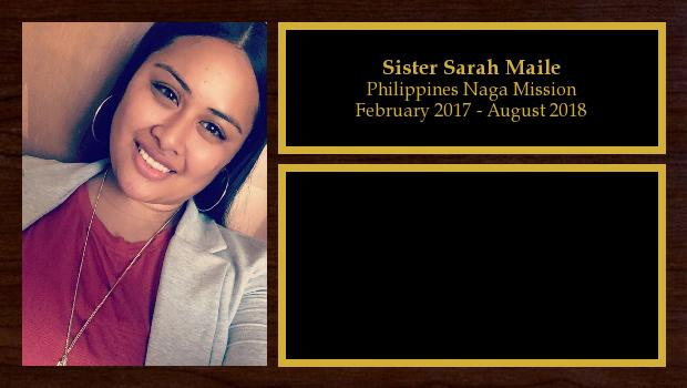 February 2017 to August 2018<br/>Sister Sarah Maile