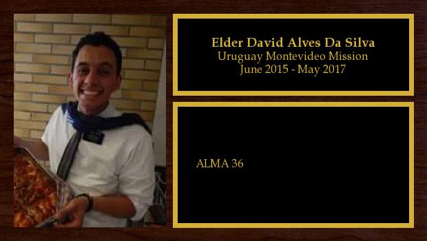 June 2015 to May 2017<br/>Elder David Alves Da Silva