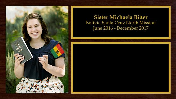 June 2016 to December 2017<br/>Sister Michaela Bitter
