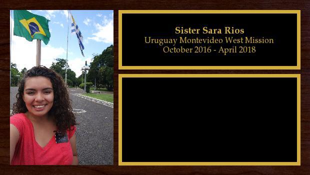 October 2016 to April 2018<br/>Sister Sara Rios