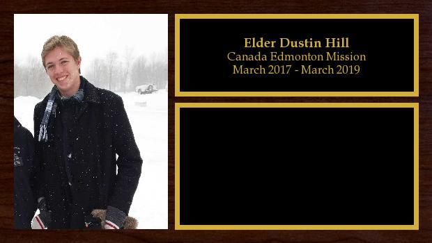 March 2017 to March 2019<br/>Elder Dustin Hill