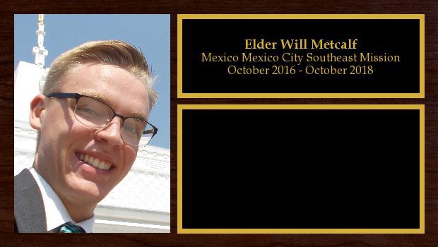 October 2016 to October 2018<br/>Elder Will Metcalf