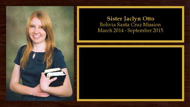 March 2014 to September 2015<br/>Sister Jaclyn Otto