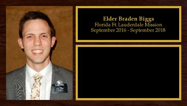 September 2016 to September 2018<br/>Elder Braden Biggs
