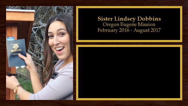 February 2016 to February 2017<br/>Sister Lindsey Dobbins