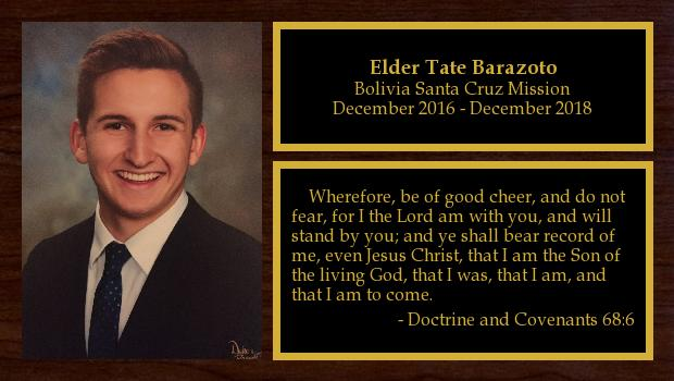 December 2016 to December 2018<br/>Elder Tate Barazoto
