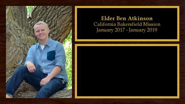 January 2017 to January 2019<br/>Elder Ben Atkinson