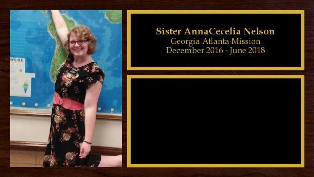 December 2016 to June 2018<br/>Sister AnnaCecelia Nelson