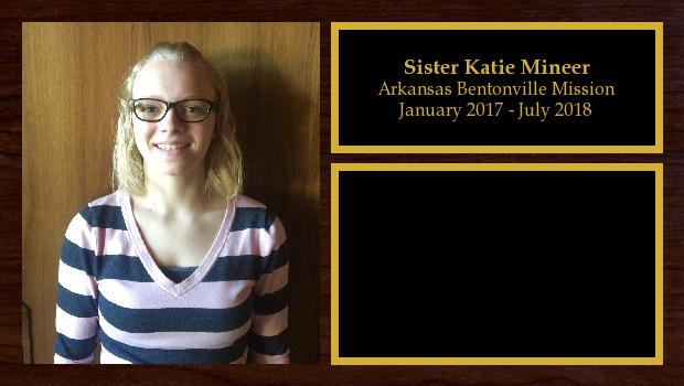 January 2017 to July 2018<br/>Sister Katie Mineer