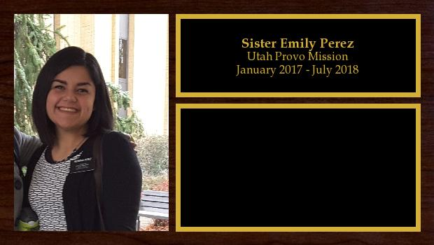 January 2017 to July 2018<br/>Sister Emily Perez