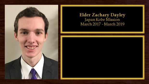 March 2017 to October 2018<br/>Elder Zachary Dayley