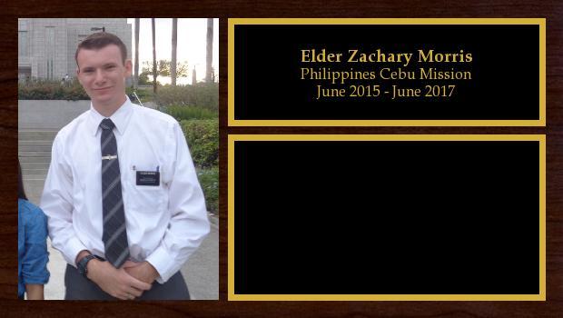 June 2015 to June 2017<br/>Elder Zachary Morris