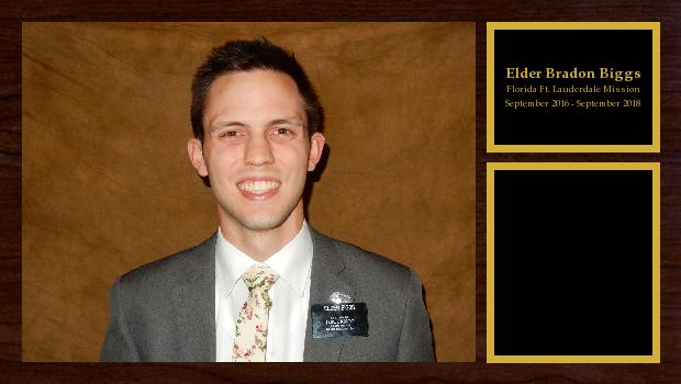 September 2016 to September 2018<br/>Elder Bradon Biggs