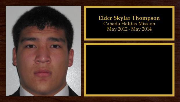 May 2012 to May 2014<br/>Elder Skylar Thompson