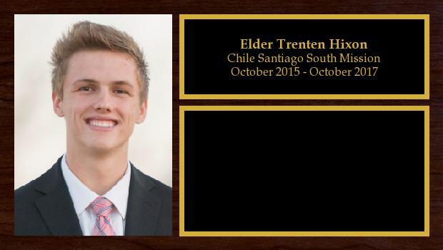 October 2015 to October 2017<br/>Elder Trenten Hixon