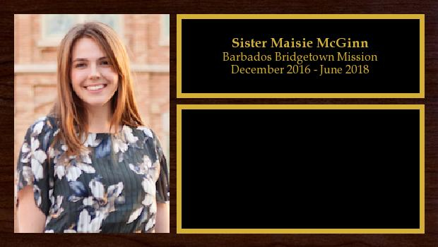 December 2016 to June 2018<br/>Sister Maisie McGinn