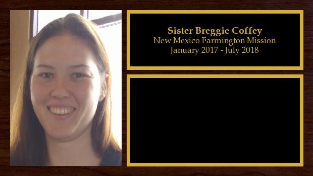 January 2017 to June 2018<br/>Sister Breggie Coffey