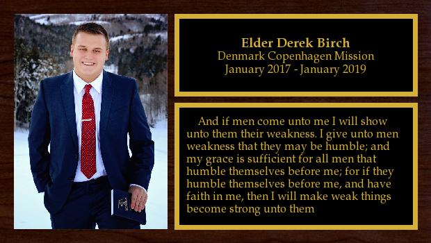 January 2017 to January 2019<br/>Elder Derek Birch