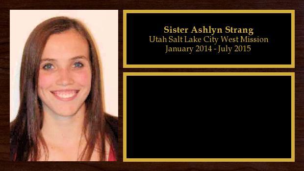 January 2014 to July 2015<br/>Sister Ashlyn Strang