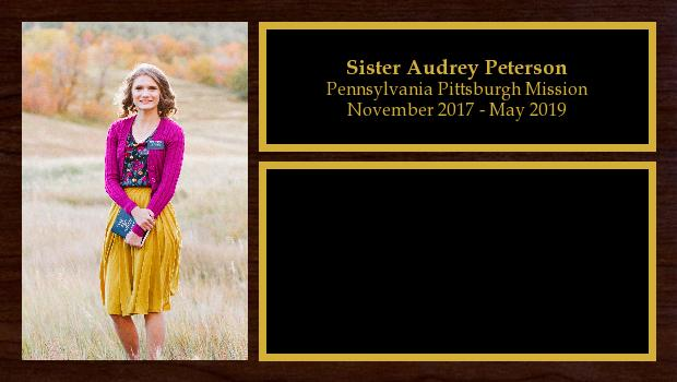November 2017 to May 2019<br/>Sister Audrey Peterson