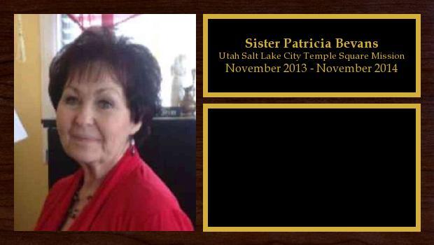 November 2013 to November 2014<br/>Sister Patricia Bevans