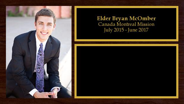 July 2015 to June 2017<br/>Elder Bryan McOmber