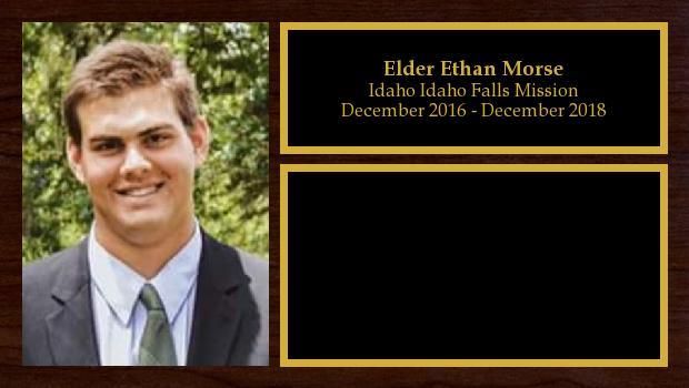 December 2016 to December 2018<br/>Elder Ethan Morse