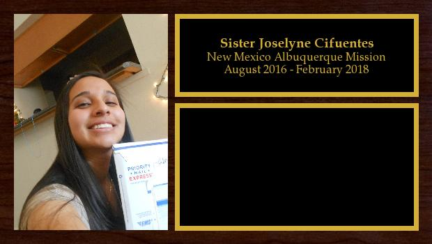 August 2016 to February 2018<br/>Sister Joselyne Cifuentes