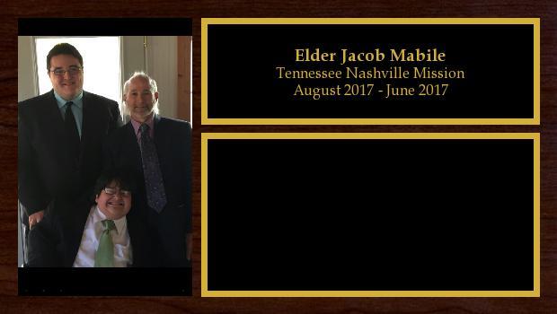 August 2017 to June 2017<br/>Elder Jacob Mabile