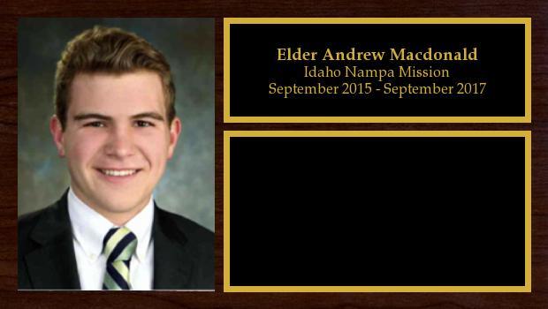 September 2015 to August 2017<br/>Elder Andrew Macdonald