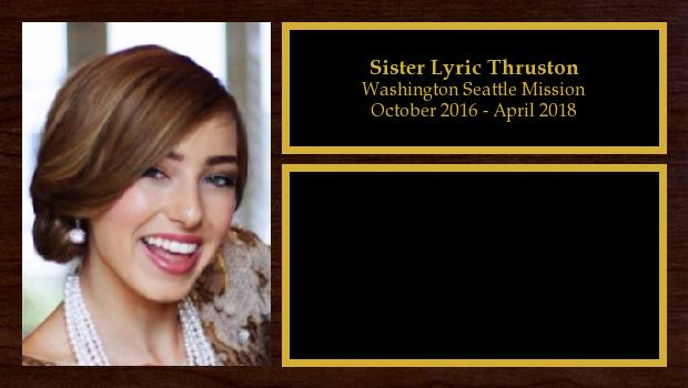 October 2016 to April 2018<br/>Sister Lyric Thruston