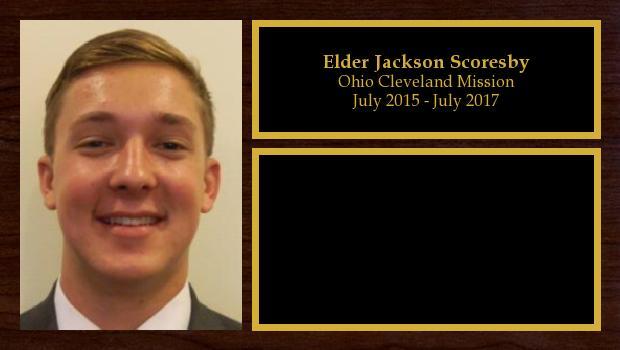 July 2015 to July 2017<br/>Elder Jackson Scoresby