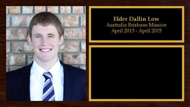 April 2013 to April 2015<br/>Elder Dallin Low