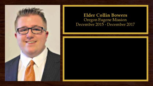 December 2015 to March 2017<br/>Elder Collin Bowers
