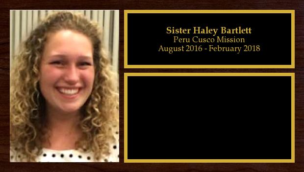 August 2016 to February 2018<br/>Sister Haley Bartlett