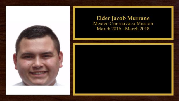 March 2016 to March 2018<br/>Elder Jacob Murrane