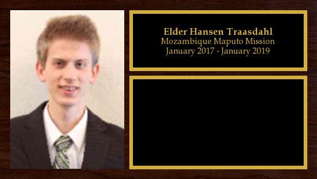 January 2017 to July 2017<br/>Elder Hansen Traasdahl