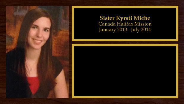January 2013 to July 2014<br/>Sister Kyrsti Miehe