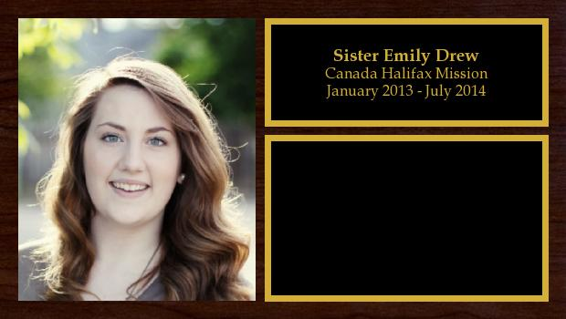 January 2013 to July 2014<br/>Sister Emily Drew