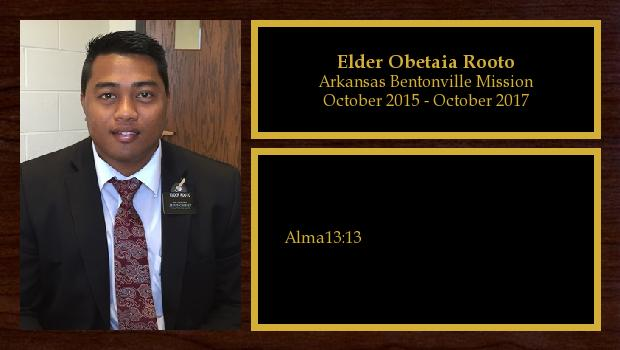October 2015 to October 2017<br/>Elder Obetaia Rooto