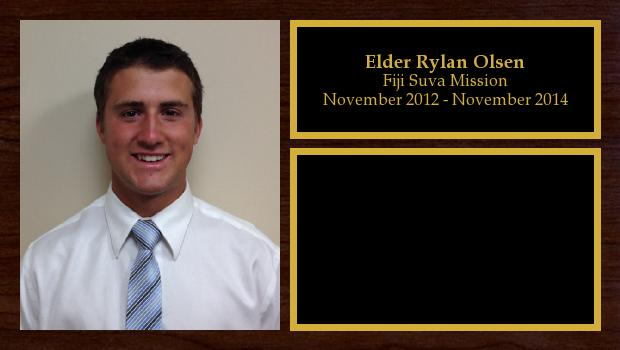 November 2012 to November 2014<br/>Elder Rylan Olsen