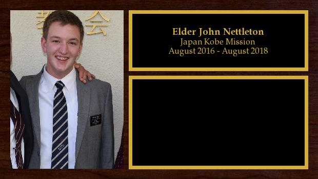 August 2016 to August 2018<br/>Elder John Nettleton