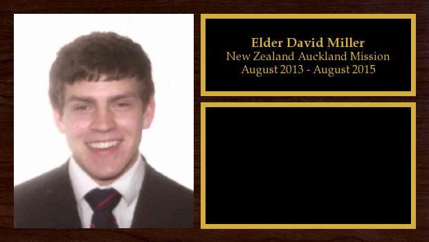 August 2013 to August 2015<br/>Elder David Miller