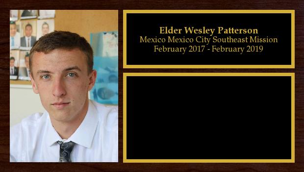 February 2017 to February 2019<br/>Elder Wesley Patterson