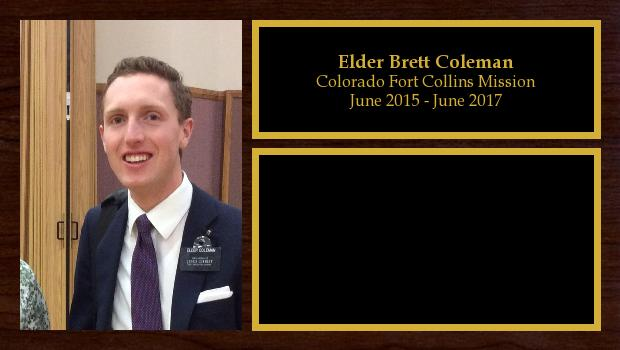 June 2015 to June 2017<br/>Elder Brett Coleman