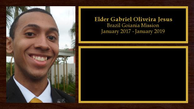 January 2017 to January 2019<br/>Elder G. Oliveira
