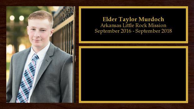 September 2016 to September 2018<br/>Elder Taylor Murdoch